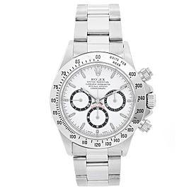 Rolex Zenith Cosmograph Daytona Watch 16520 White Dial