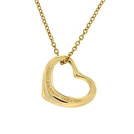 Tiffany & Co. 18K Yellow Gold Peretti Open Heart Necklace