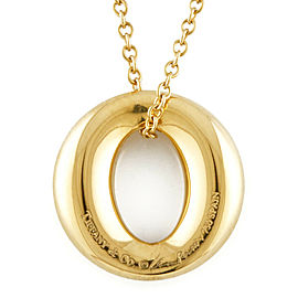 TIFFANY&Co. 18K yellow Gold Alphabet Initial Necklace