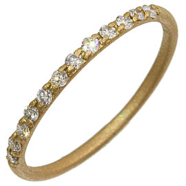 AHKAH 0.12ct Half Eternity Diamonds Ring in 18K Yellow Gold US4.25