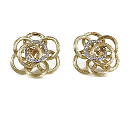 Marco Bicego 18K Yellow Gold Diamond Positano Earrings