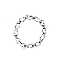 Aaron Basha 18K White Gold Open Heart Link Bracelet