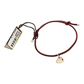 Damiani 9K Rose Gold Ruby Heart Silk Bracelet