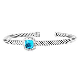 David Yurman Albion Bracelet with Blue Topaz and Diamonds