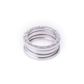 Bulgari 18K White Gold B.zero1 3 Band Ring Size 4.5