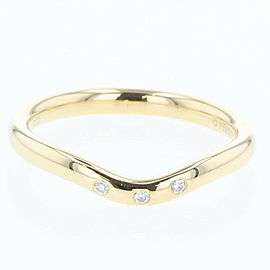 TIFFANY & Co. 18k yellow Gold/ diamond Curved band Ring TBRK-612