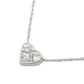 Bulgari 18K White Gold Heart Diamond Necklace