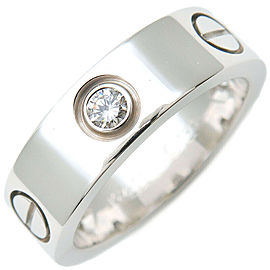 Cartier 18k White Gold 3P Half Diamond Love Ring
