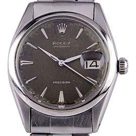 Rolex Oysterdate Precision 6694 Vintage 33mm Mens Watch