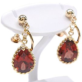 18k yellow gold/garnet Earring
