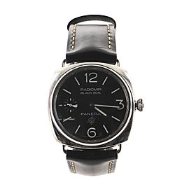 Panerai Radiomir Black Seal Manual Watch Stainless Steel and Leather 45