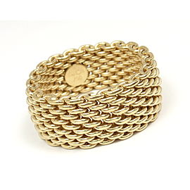 Tiffany & Co 18K Yellow Gold Somerset Mesh Ring Size 9
