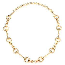 Gucci 18K Yellow Gold Horsebit Link Necklace
