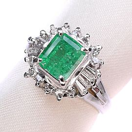 Emerald Platinum/Diamond Ring NST-394