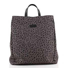 Gucci Open Tote Printed Canvas Tall