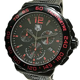 TAG HEUER CAU111D Formula 1 Stainless Steel / Rubber belt Chronograph Wrist watch