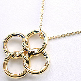 TIFFANY&Co K18 yellow gold Clover Necklace NST-74