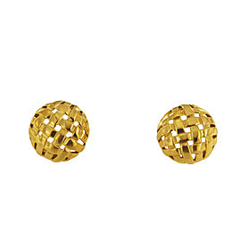 Tiffany & Co. Vannerie Round Clip On Gold Earrings