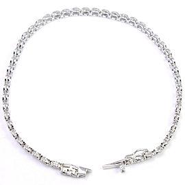 18k white gold/diamond Ble Rubbed Bracelet