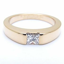 Cartier 18K Yellow Gold Diamond 0.25ct Tank Ring