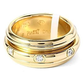 Piaget 18K Yellow Gold Diamond G34PL350 Ring Size 6.75