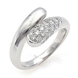 BVLGARI 18K white gold diamond Astrea Pave Ring CHAT-946