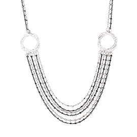 Alor 18K White Gold AND Black GOLD CHAIN & Yellow Gold Necklace
