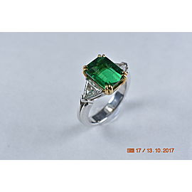 3.24ct. Emerald and Diamond Ring