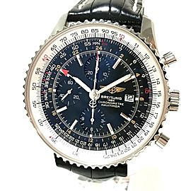 BREITLING A24322 Navi timer Stainless Steel/Croco leather belt World Chronometer Wrist watch RSH-1110