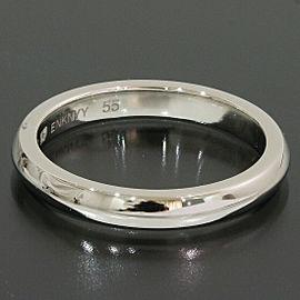 Bvlgari Bulgari Platinum Fedi Wedding Band Ring TNN-1667