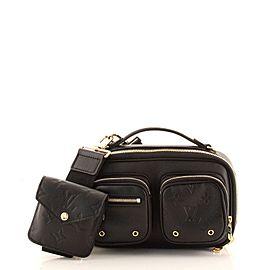 Louis Vuitton Utility Crossbody Bag Calfskin with Embossed Monogram Detail