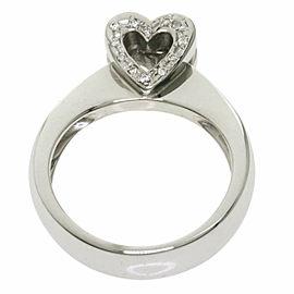 Ponte Vecchio 18k White Gold Diamond heart Ring