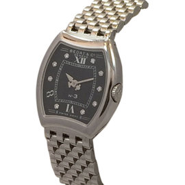 Bedat & Co. No.3 Diamond Dial Stainless Steel Womens Watch