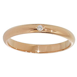Cartier 18K Rose Gold 1P Diamond Ring Size 6.25