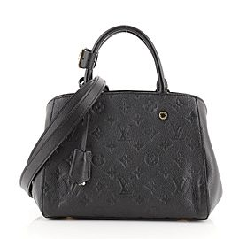 Louis Vuitton Montaigne Handbag Monogram Empreinte Leather BB