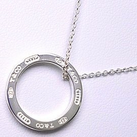 TIFFANY & Co Silver925 1837 Circle Necklace NST-52
