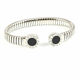BVLGARI Stainless steel, Black Tubogas Bangle Bracelet CHAT-222