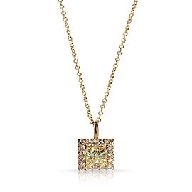 GIA Certified Diamond Necklace in 14K Yellow Gold W-X VS2 1.38