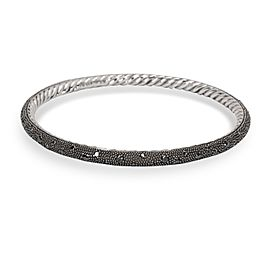 David Yurman Midnight Melange Bangle with Black Diamonds in Sterling Silver