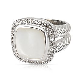 David Yurman Diamond & Mother of Pearl Albion Ring in Sterling Silver 0.25