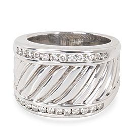 David Yurman Wide Cable Diamond Men's Band in Sterling Silver (0.25 )