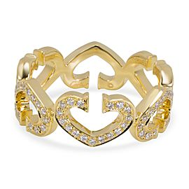 Cartier C Hearts of Cartier Diamond Ring in 18K Yellow Gold (0.50 CTW)