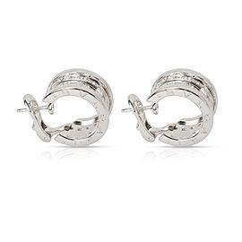 Bulgari B.zero1 Diamond Hoop Earring in 18K White Gold (1.08 CTW)