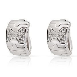 Bulgari Parentesi Diamond Earrings in 18K White Gold 0.5