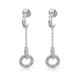 Cartier Love Dangle Diamond Earrings in 18K White Gold 1.02 CTW