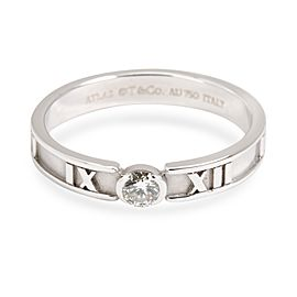Tiffany & Co. Atlas Diamond Band in 18K White Gold 0.12