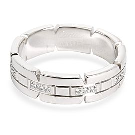 Cartier Men's Tank Francaise Diamond Band in 18K White Gold 0.05 CTW
