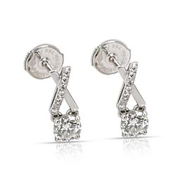 DeBeers Promise Diamond Stud Earrings in 18K White Gold (0.68 )