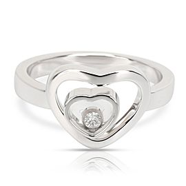 Chopard Happy Diamonds Double Heart Ring in 18K White Gold 0.05