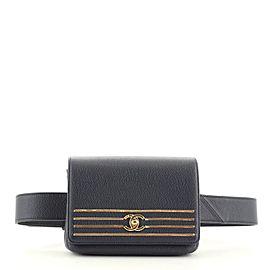 Chanel Captain Gold Waist Bag Embroidered Caviar Medium